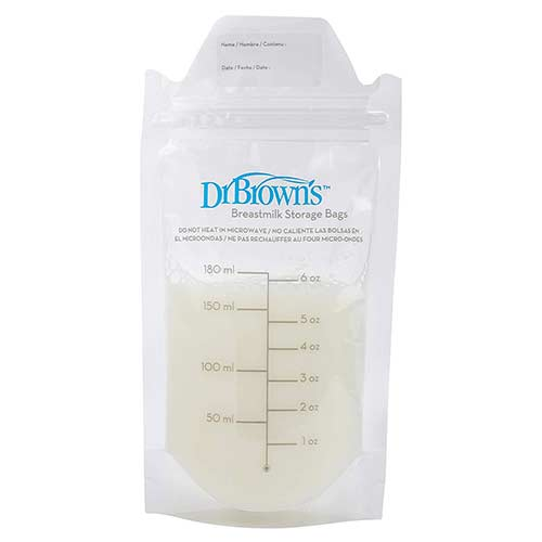 5. Dr. Brown's 100 Piece Breastmilk Storage Bags