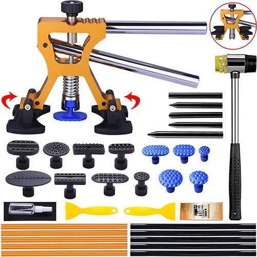 10. Manelord Auto Body Dent Repair Kit, Car Dent Puller with Golden Dent Puller