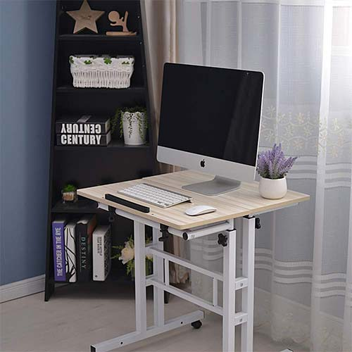 6. Binlin Computer Desk, adjustable Standing Laptop Desk Computer Table