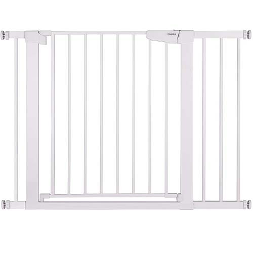 "5. Cumbor 43.3"" Auto Close Safety Baby Gate, Extra Tall and Wide Child Gate"