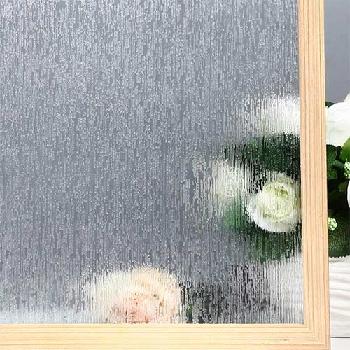 9. VELIMAX Static Cling Rain Glass Window Film Removable Rain Decorative Window Film