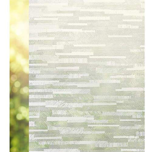 6. Rabbitgoo Privacy Window Film Frosted Matte Window Sticker Static Cling Door Film