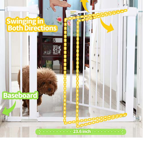 3. Baby Gates for Stairs and Doorways Dog Gates for The House, 30-40.5 inches - Indoor Safety Gates for Kids or Pets