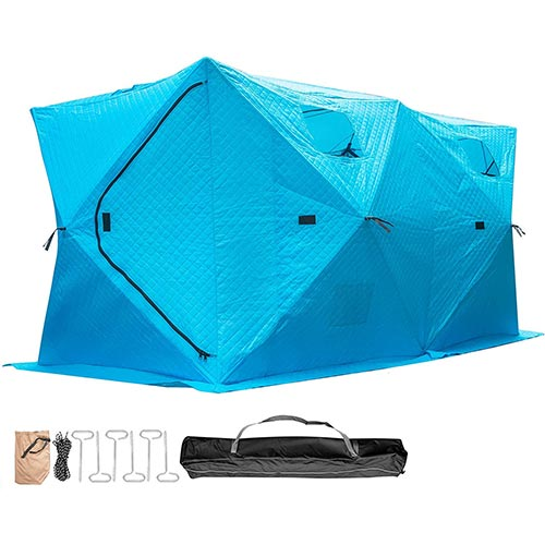 3. Popsport Ice Fishing Tent 3/4/8 Person Add Cotton Thicken Waterproof Pop-up Portable Ice Fishing Shelter