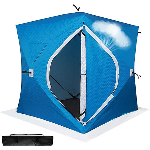 10. ibigbean Ice Fishing Shelter 4 Persons Portable Ice Fishing Tent Water-Repellent and Wind-Resistant