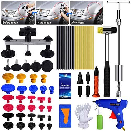 7. AUTOPDR Dent Repair Tools, 2 in 1 T-Puller (Big Dent) Paintless Dent Repair Kits