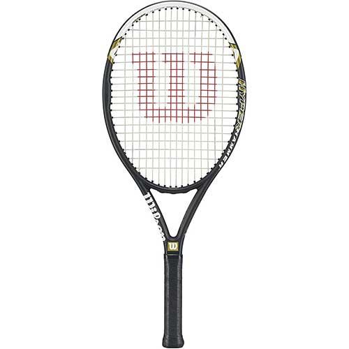 7. Wilson Federer Black/Red Adult Pre-Strung Recreational Tennis Racquet