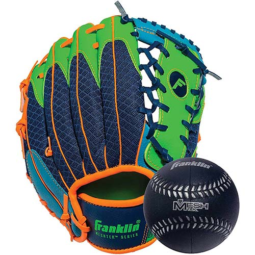 5. Franklin Sports Teeball Glove and Ball Set