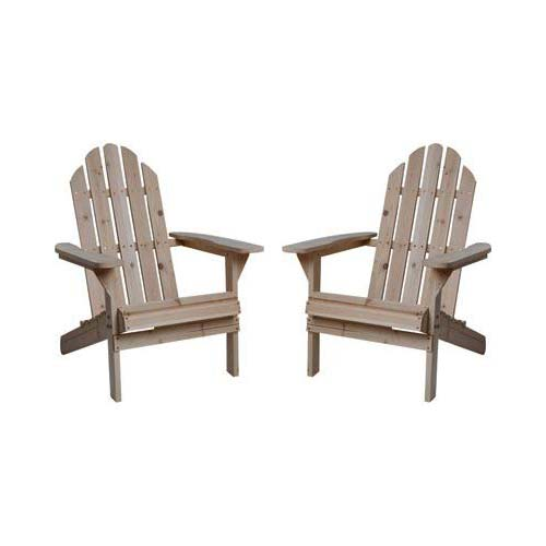7. Kotulas Fir Wood Unfinished Adirondack Chairs