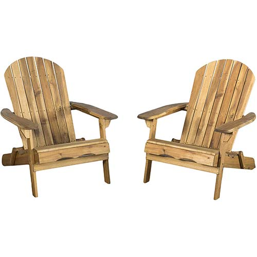 4. Christopher Knight Home 296698 Milan Brown Outdoor Folding Adirondack Chair