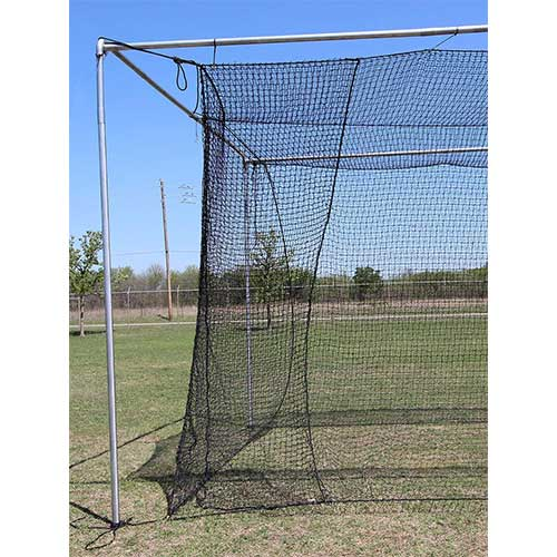 2. Jones Sports Batting Cage Net 10' H x 12' W x 40' L #42 HDPE (60PLY)