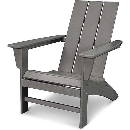 5. POLYWOOD AD420GY Modern Adirondack Chair