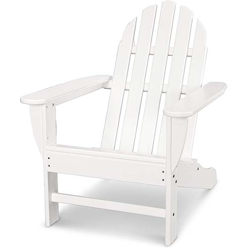 10. POLYWOOD AD4030WH Classic Outdoor Adirondack Chair