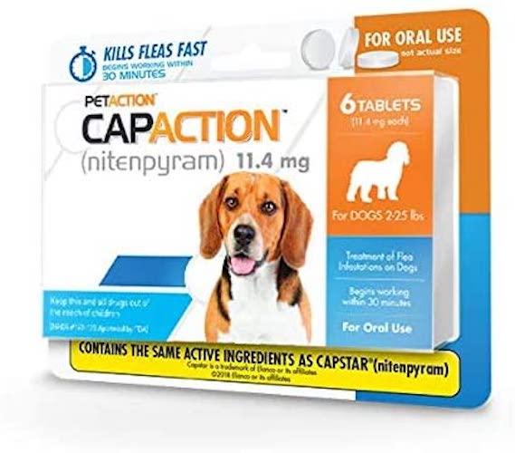 5. CapAction Oral Flea Treatment Small Dog