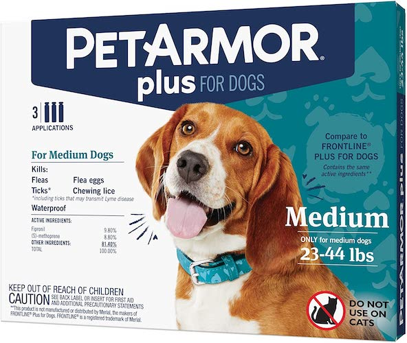 3. PETARMOR Plus Flea & Tick Squeeze-On Dog 23-44 lbs