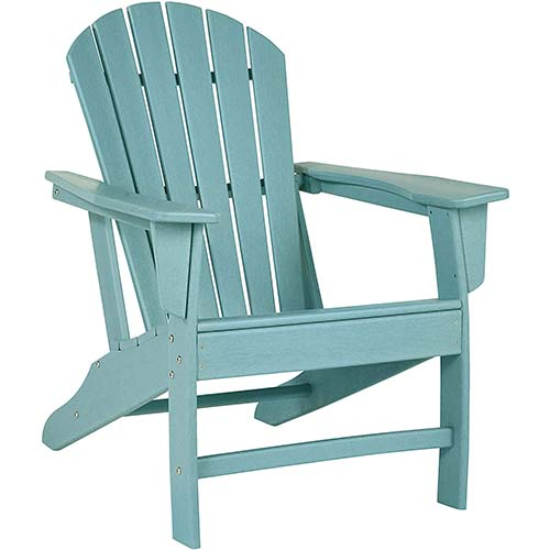 1. Signature Design by Ashley - Sundown Treasure Outdoor Adirondack Chair – Turquoise