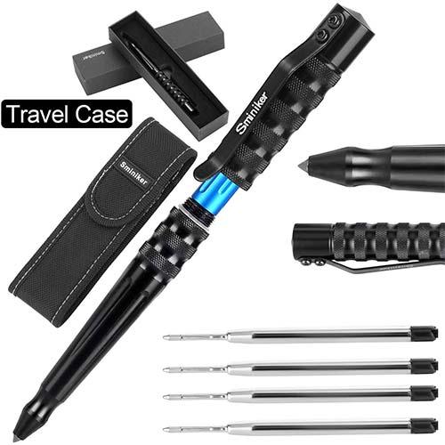7. Sminiker Tactical Pen Multifunctional Survival Tool Glass Breaker Ballpoint Pens