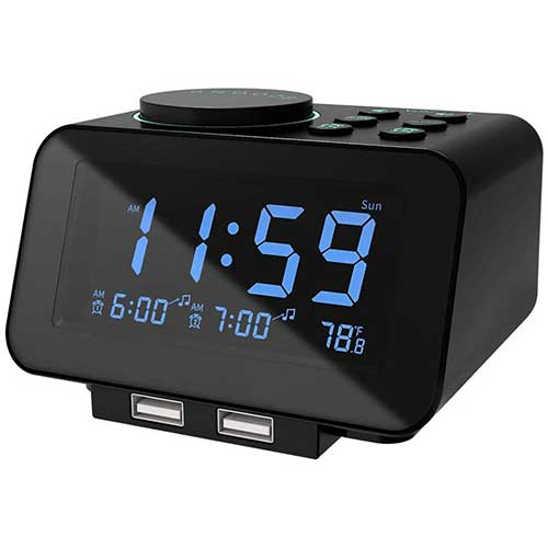2. USCCE Digital Alarm Clock Radio