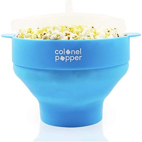 6. Colonel Popper Microwave Popcorn Maker Air Popper Silicone Bowl