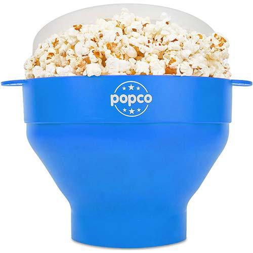 2. The Original Popco Silicone Microwave Popcorn Popper