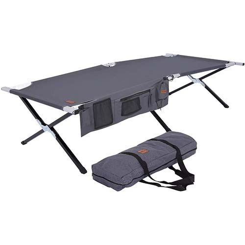 9. Tough Outdoors Camping Cot - Folding Military/Army Camp Bed for Adults