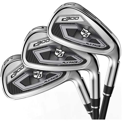 1. Wilson Staff C300 Irons, Steel, Regular, MRH, 4-PW, GW