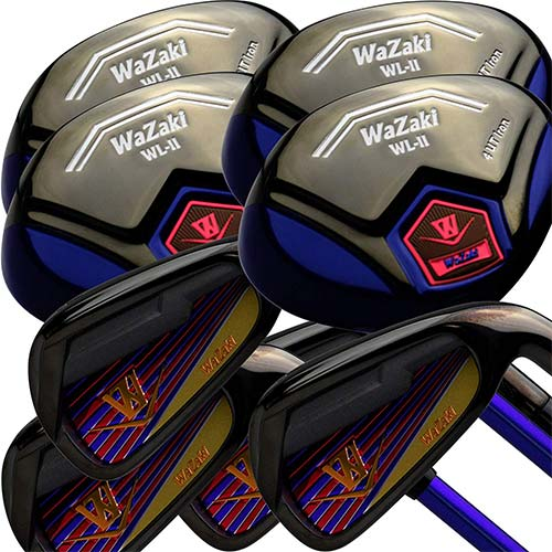 10. Japan WaZaki Black Finish WL-IIs 4-SW Combo Hybrid Irons USGA R A Rules Golf Club Set