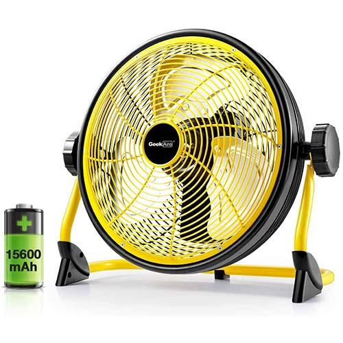1. Geek Aire Fan, Battery Operated Floor Fan