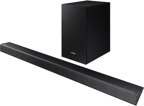 4. Samsung 2.1 Soundbar HW-R450 with Wireless Subwoofer, Bluetooth Compatible, Smart Sound Mode, Game Mode, 200-Watts