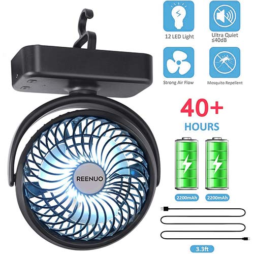 Top 10 Best Battery Operated Fans for Camping in 2020 Reviews