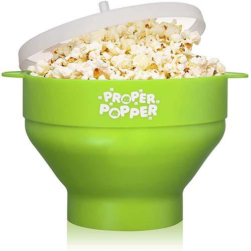 3. The Original Proper Popper Microwave Popcorn Popper