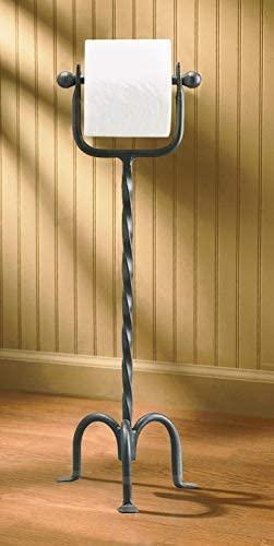 10. Park Designs Free Standing Iron Toilet Tissue Holder