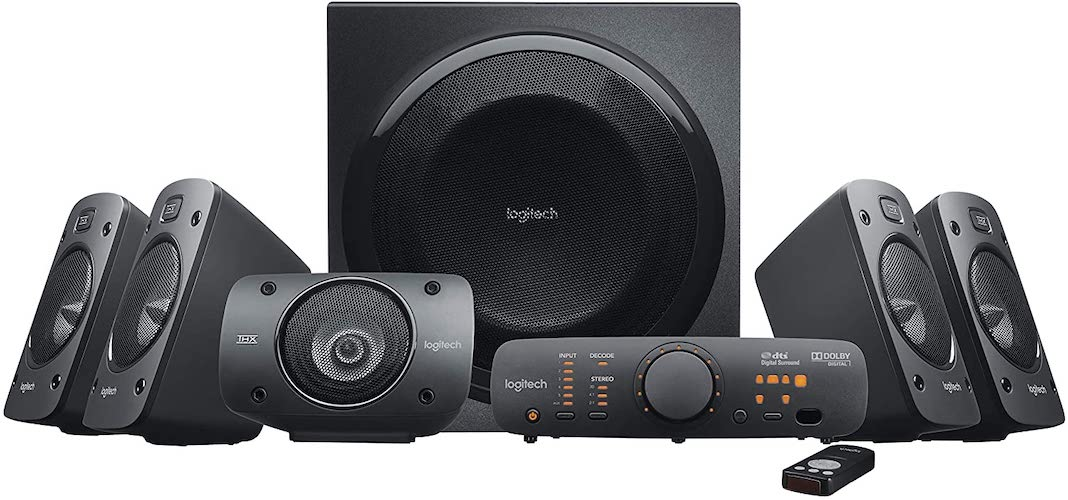 1. Logitech Z906 5.1 Surround Sound Speaker System