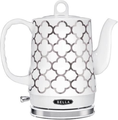 6. BELLA (14522) 1.2 Liter Electric Tea Kettle, Silver Tile