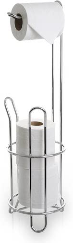 6. BINO 'The Classic' Free Standing Toilet Paper Holder, Chrome
