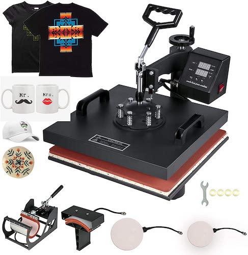 8. Mophorn Heat Press 15x15 Inch Heat Press Machine