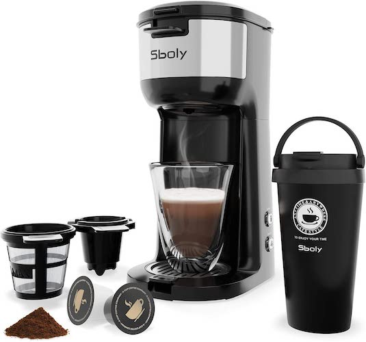 9. Single Serve Coffee Maker for K-Cup Pods And Ground Coffee