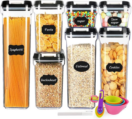 9. Airtight Food Storage Containers - MCIRCO 7 Pieces BPA Free Plastic Containers with Upgraded Durable Lids