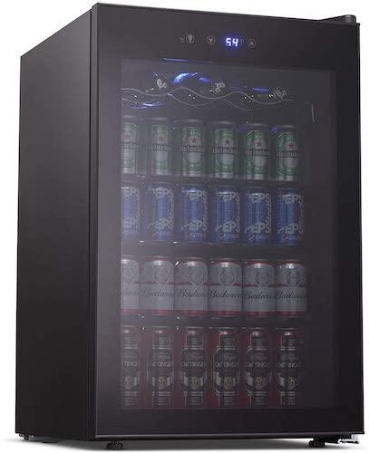 6. Joy Pebble Beverage Cooler and Refrigerator, 126 Can Mini Fridge
