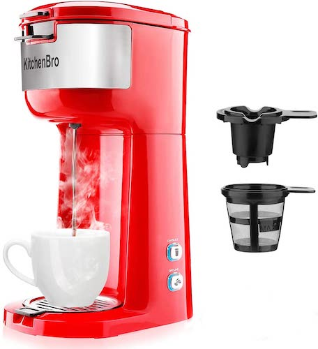5. Single Serve Coffee Maker for K-Cup Pod & Ground Coffee