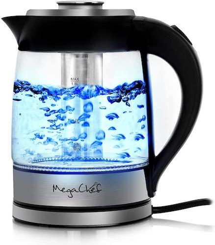 3. Megachef Electric Stainless Steel Light Up Tea Kettle, 1.8L, Model 1