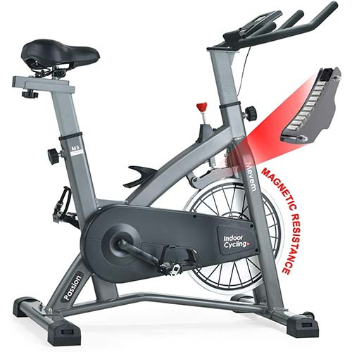 3. MEVEM Indoor Cycling Bike-Belt Drive Indoor Magnetic Exercise Bike,Indoor Stationary Bike for Home Cardio Gym Workout