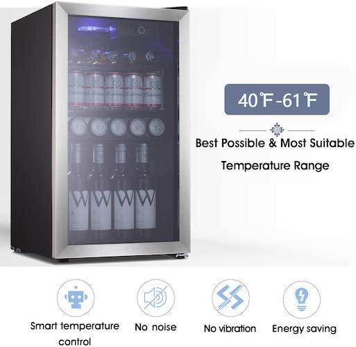 3. Beverage Refrigerator and Cooler - Drink Fridge