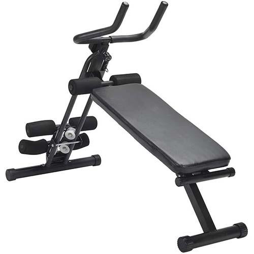 7. Homlpope Adjustable Weight Bench/
