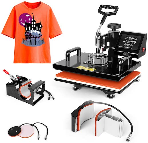 10. Heat Press Machine 15x15 inch - TUSY 5 in 1 Swing Away Digital Industrial Sublimation Printing Press Heat Transfer Machine