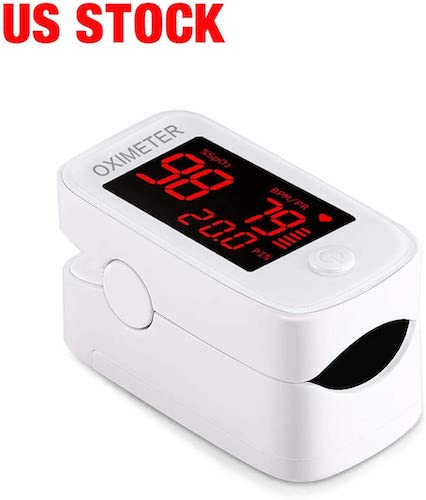 2. Fingertip Pulse Oximeter, Blood Pulse Oximeter with LED Display, Portable Digital Blood Oxygen Pulse Rate Body Health Monitor for Adults and Children