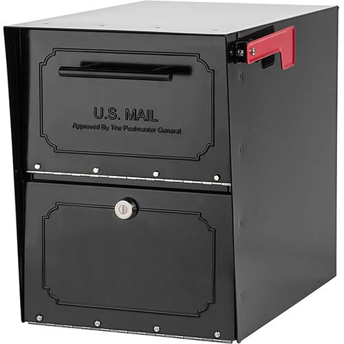 2. Architectural Mailboxes 6200B-10 Oasis Classic Locking Post Mount Parcel Mailbox