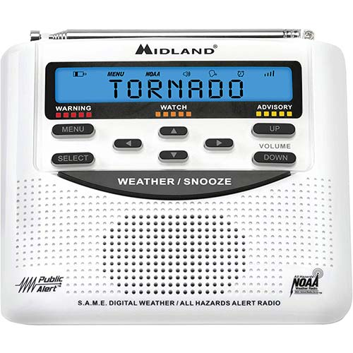 9. Midland - WR120B/WR120EZ - NOAA Emergency Weather Alert Radio