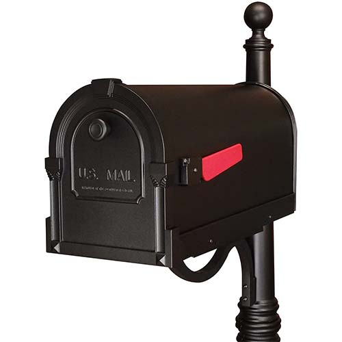 8. Special Lite Products SCS-1014-BLK Savannah Curbside Mailbox