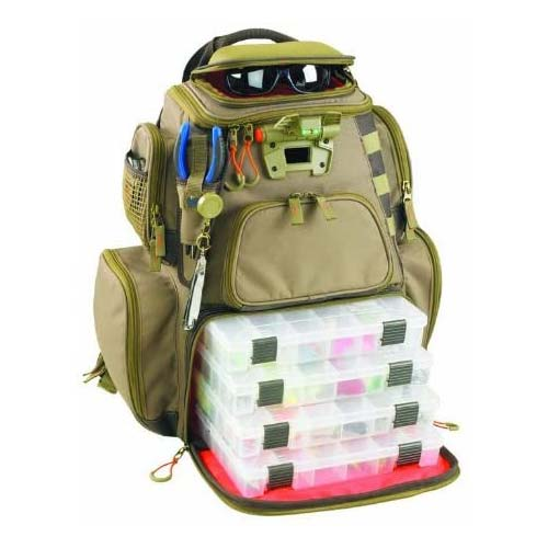 10. Wild River by CLC WT3604 Tackle Tek Nomad Lighted Backpack & Four PT3600 Trays